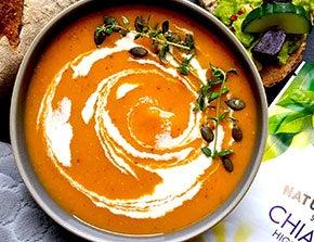 spiced pumpkin chia soup